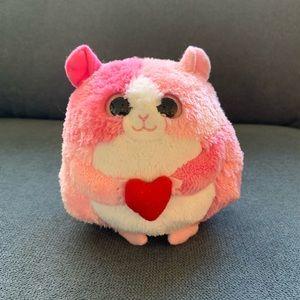 """Rosa"" Ty Beanie Ballz Valentines Hamster"